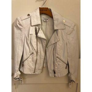 Women's White Faux-Leather Jacket - bebe